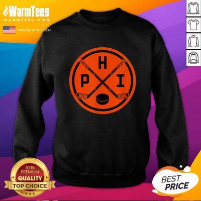 Official Philadelphia Ice Hockey Sticks Philly PHI Flyer Vintage Sweatshirt - Design By Warmtees.com