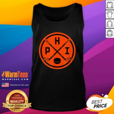 Official Philadelphia Ice Hockey Sticks Philly PHI Flyer Vintage Tank Top - Design By Warmtees.com