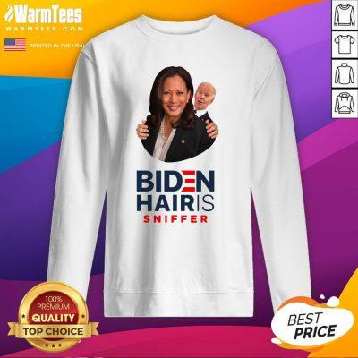 Premium Joe Biden Hair Sniffer Kamala Harris Sweatshirt - Design By Warmtees.com