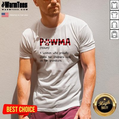 Premium Pawma A Woman Who Proudly Claims Her Childrens Cats As Her Grandcats V-neck - Design By Warmtees.com
