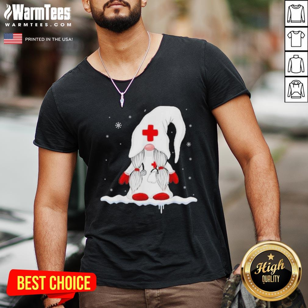 Premium Santa Claus Nurse V-neck - Design By Warmtees.com