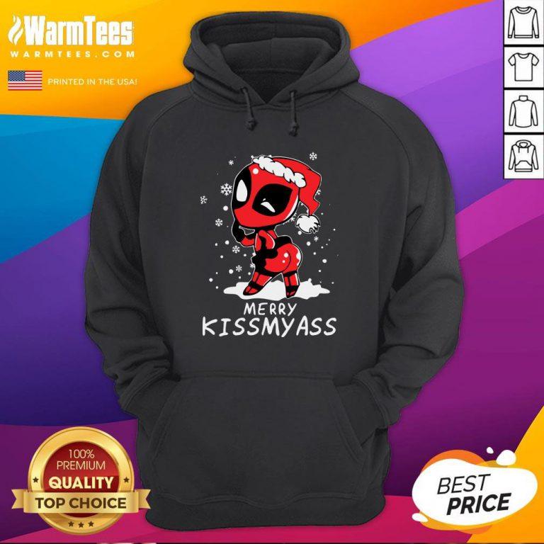 Premium Santa Deadpool Merry Kiss My Ass Christmas Hoodie - Design By Warmtees.com