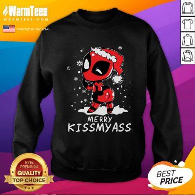 Premium Santa Deadpool Merry Kiss My Ass Christmas Sweatshirt - Design By Warmtees.com