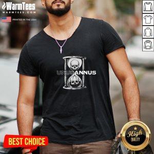 Premium Unus Annus Merch Hourglass Crewneck V-neck - Design By Warmtees.com