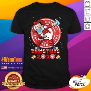 Pretty Atlanta Hawks Funny Santa Claus Dabbing Christmas 2020 Shirt - Design By Warmtees.com