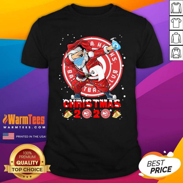 Pretty Atlanta Hawks Funny Santa Claus Dabbing Christmas 2020 Shirt - Design By Warmtees.com