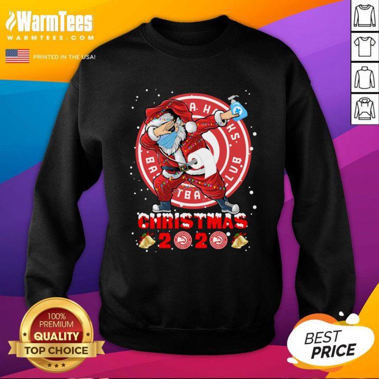 Pretty Atlanta Hawks Funny Santa Claus Dabbing Christmas 2020 Sweatshirt - Design By Warmtees.com