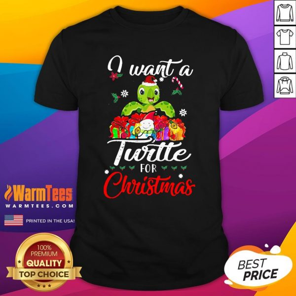 Pretty I Want A Turtle For Christmas Shirt - Design By Thelasttees.com
