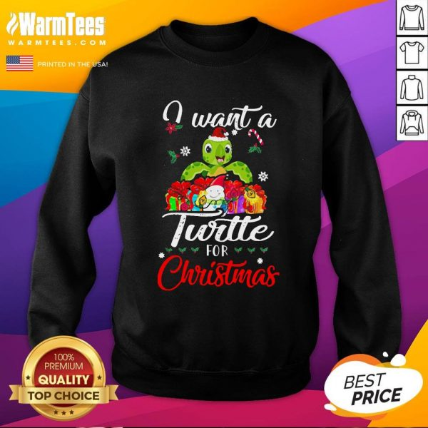 Pretty I Want A Turtle For Christmas Sweatshirt - Design By Thelasttees.com