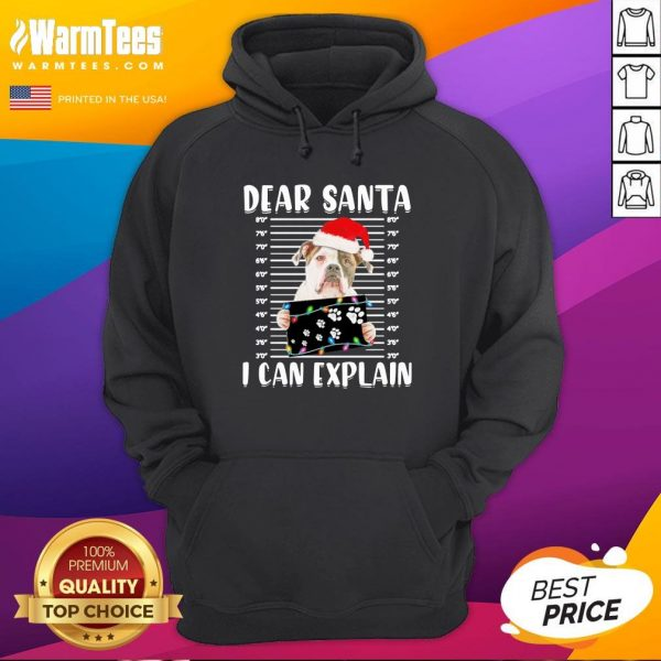 Pro Bulldog Dear Santa I Can Explain Christmas Sweater Hoodie - Design By Warmtees.com