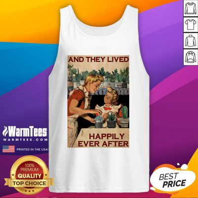 Pro Succulent Mom And Daughter And They Lived Happily Ever After Poster Tank Top - Design By Warmtees.com
