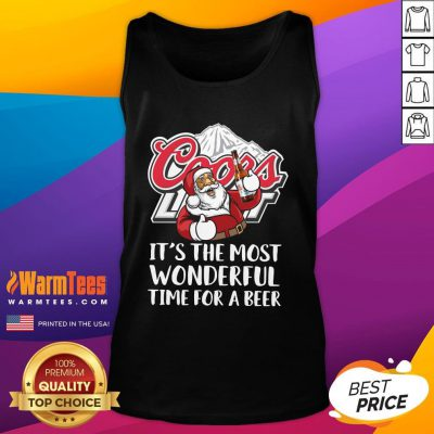 Super Nice Santa Claus Drink Coors Light It's The Most Wonderful Time For A Beer Christmas Sweater Tank Top - Design By Warmtees.com