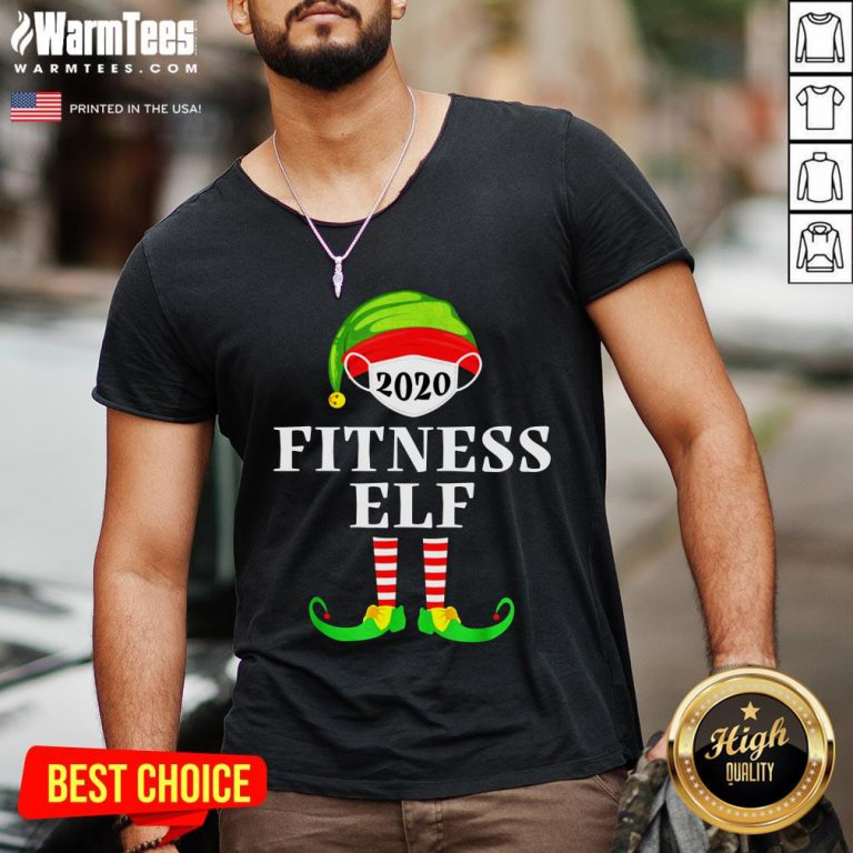 Top Fitness Elf Matching Christmas Group Party Pjs Family 2020 V-neck - Design By Warmtees.com