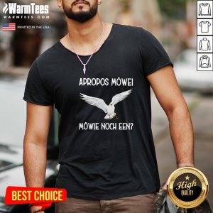 Top White Dove Apropos Mowe Mowie Noch Een V-neck - Design By Warmtees.com