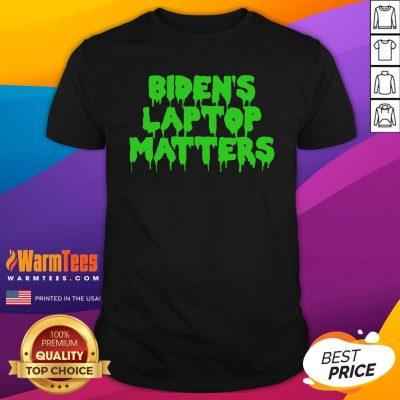 Vip Biden's Laptop Matters Political Swamp Green Shirt - Design By Warmtees.com