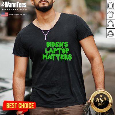 Vip Biden's Laptop Matters Political Swamp Green V-neck - Design By Warmtees.com