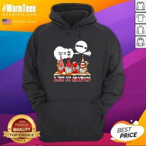 Wonderful Gnomies Let Is Snow Christmas Hoodie - Design By Thelasttees.com