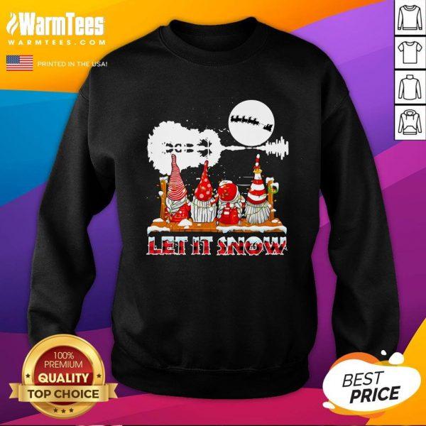 Wonderful Gnomies Let Is Snow Christmas Sweatshirt - Design By Thelasttees.com