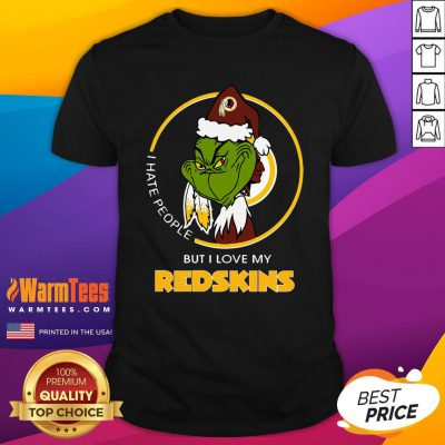 Wonderful I Hate People But I Love My Redskins Shirt - Design By Warmtees.com