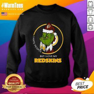 Wonderful I Hate People But I Love My Redskins Sweatshirt - Design By Warmtees.com