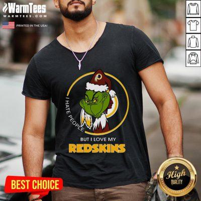 Wonderful I Hate People But I Love My Redskins V-neck - Design By Warmtees.com