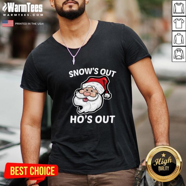 Wonderful Santa Claus Snow's Out Ho's Out Christmas V-neck - Design By Warmtees.com