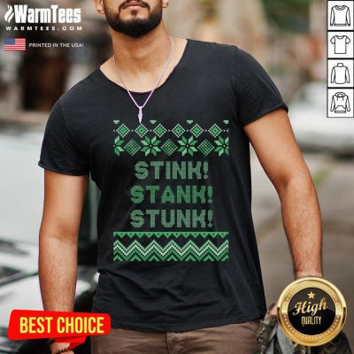 Wonderful Stink Stank Stunk Christmas V-neck - Design By Warmtees.com