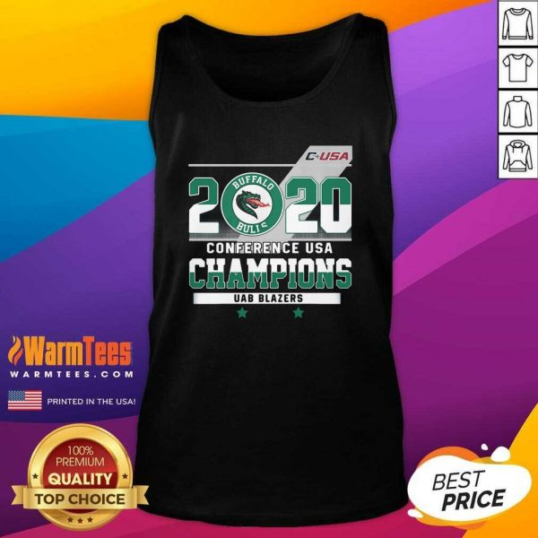 C-USA 2020 Buffalo Bulls Conference USA Champions UAB Blazers Tank Top - Design By Warmtees.com