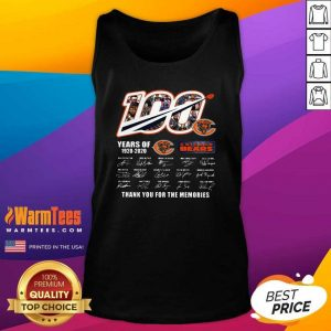 Chicago Bears 100 Years Of 1920 2020 Thank You For The Memories Signatures Tank Top - Design By Warmtees.com