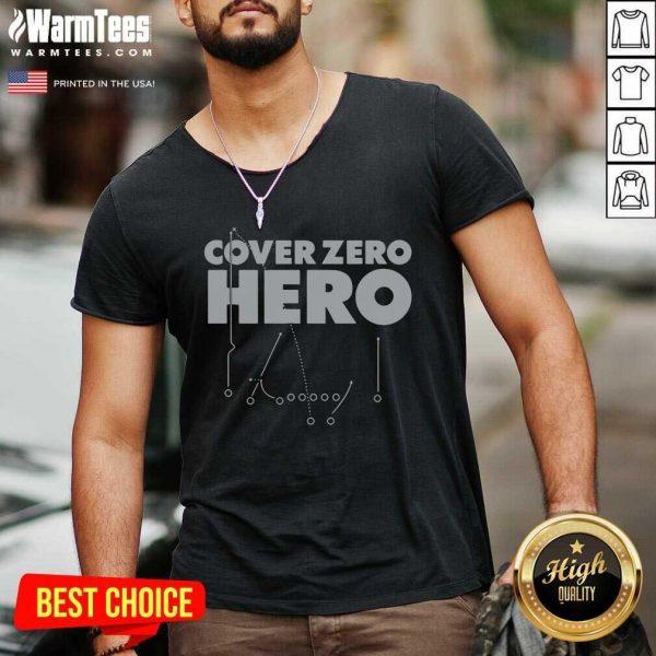 Cover Zero Hero Las Vegas Football V-neck - Design By Warmtees.com