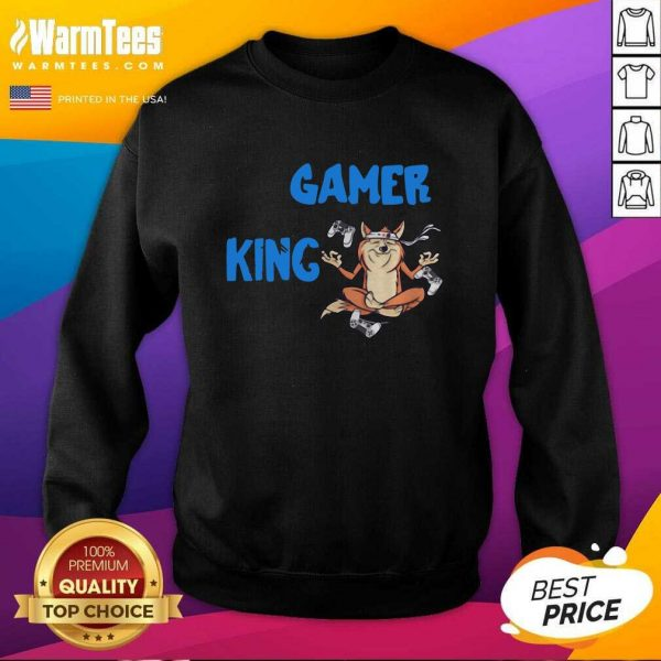 Gamer King Console Gaming PC Computer Video Games SweatShirt - Design By Warmtees.com