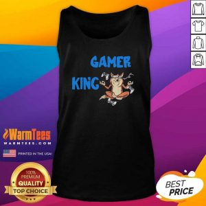 Gamer King Console Gaming PC Computer Video Games Tank Top - Design By Warmtees.com