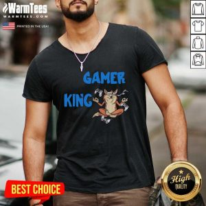Gamer King Console Gaming PC Computer Video Games V-neck - Design By Warmtees.com