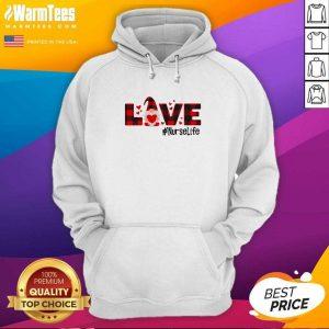 Gnome Love Valentine #Nurse Life Hoodie - Design By Warmtees.com
