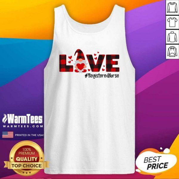 Gnome Love Valentine Registered Nurse Tank Top - Design By Warmtees.com