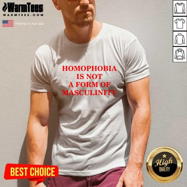 Homophobia Is Not A Form Of Masculinity V-neck - Design By Warmtees.com