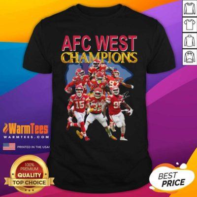 Kansas City Chiefs AFC West Champions Signatures Shirt - Design By Warmtees.com