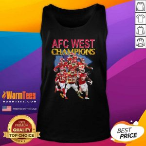 Kansas City Chiefs AFC West Champions Signatures Tank Top - Design By Warmtees.com