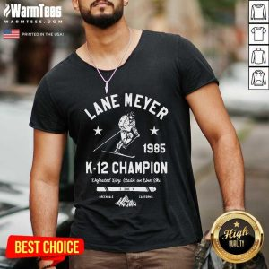 Lane Meyer 1985 K 12 Champion V-neck - Design By Warmtees.com