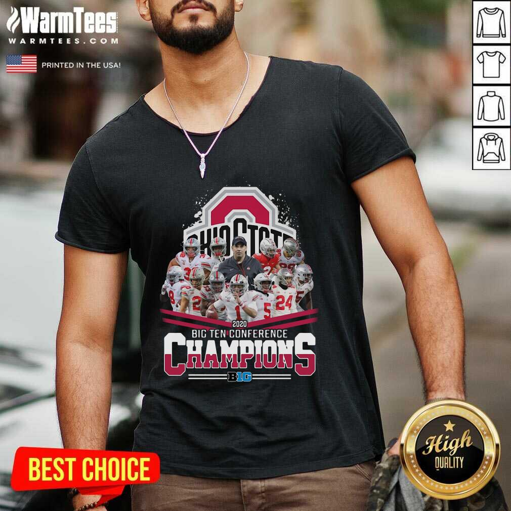 Ohio State 2020 Big Ten Conference Champions V-neck  - Design By Warmtees.com