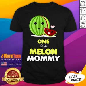 One In A Melon Mom Funny Fruit Watermelon Mom Shirt - Design By Warmtees.com