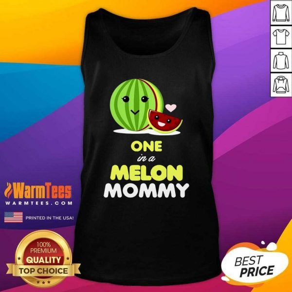 One In A Melon Mom Funny Fruit Watermelon Mom Tank Top - Design By Warmtees.com