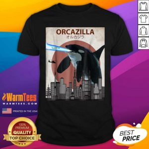 Orcazilla Killer Whale Orca Lovers Shirt - Design By Warmtees.com