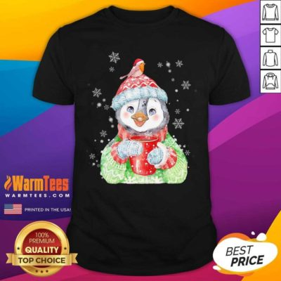 Penguin Warm Winter Christmas Shirtv - Design By Warmtees.com