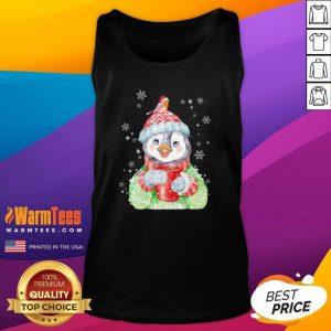 Penguin Warm Winter Christmas Tank Top - Design By Warmtees.com