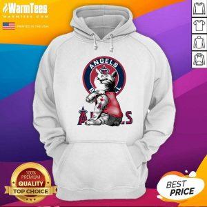 Tattoo Cat I Love Angels Baseball Hoodie - Design By Warmtees.com