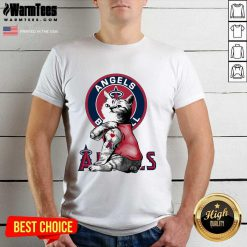 Tattoo Cat I Love Angels Baseball Shirt - Design By Warmtees.com