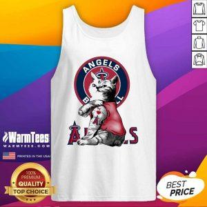 Tattoo Cat I Love Angels Baseball Tank Top - Design By Warmtees.com