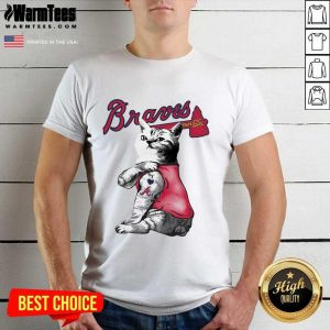 Tattoo Cat I Love Atlanta Braves Shirt - Design By Warmtees.com
