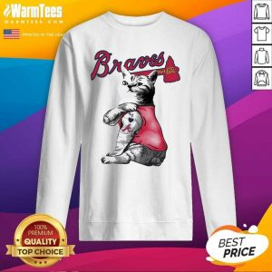 Tattoo Cat I Love Atlanta Braves SweatShirt - Design By Warmtees.com